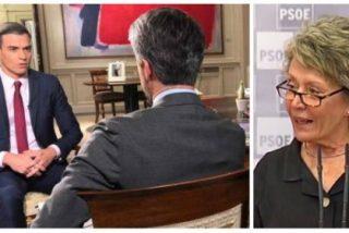 Twitter le hunde a Rosa María Mateo el masaje a cuatro manos que le harán a Pedro Sánchez en RTVE