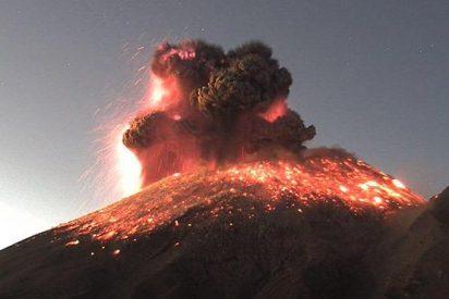 México: las fotos de la brutal erupción del volcán Popocatépetl