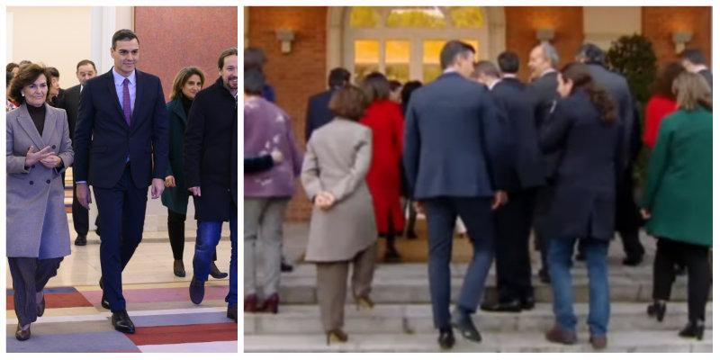 Pedro Sánchez y la metedura de pata que arruina su foto de familia ministerial