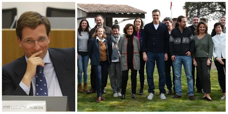 """José Luis Martínez-Almeida, contra el esperpéntico pic-nic de Sánchez y sus ministros: """"Alguien se ha vuelto loco en Moncloa"""""""
