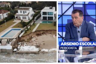 La solución de Arsenio Escolar para los afectados por la borrasca 'Gloria': que abandonen sus casas a pie de playa y se vayan a otro lado