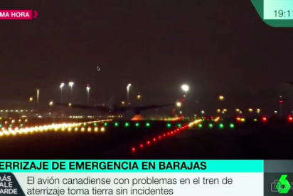 VÍDEO / Así aterrizó el avión de Air Canadá que volaba sin una rueda, sin un motor y con 128 viajeros a bordo