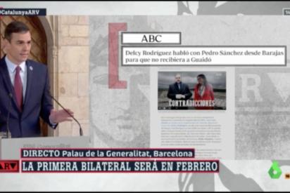 Un Pedro Sánchez arrinconado por el 'caso Ábalos' desacredita a ABC: