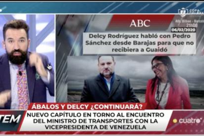 'Todo es Mentira' encuentra la verdad entre las versiones 'fake' de Ábalos: Se 'zumbó' a Delcy Rodríguez