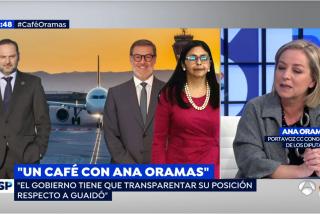 """Susana Griso, escandalizada con Ana Oramas por desvelar lo que había en el avión de Delcy Rodríguez: """"¡Ay Dios!"""""""