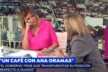 """Susanna Griso, escandalizada con Ana Oramas por desvelar lo que había en el avión de Delcy Rodríguez: """"¡Ay Dios!"""""""