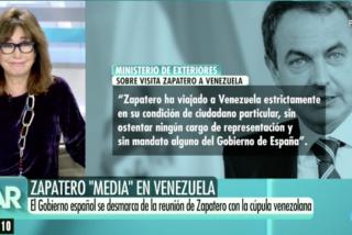 Ana Rosa Quintana y García-Margallo destrozan la mentira de Sánchez: Zapatero no viajó a Caracas a título particular