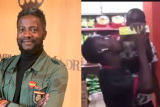 Bertrand Ndongo (VOX) critica a dos inmigrantes negros que la lían en un súper: