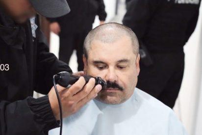 El Chapo Guzmán tiene un gran bigote pero se está quedando calvo.