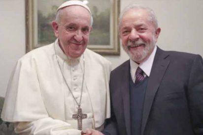 El Papa premia la corrupción de la izquierda y expresa su satisfacción por encontrarse con Lula Da Silva