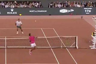 El punto imposible de Nadal a Federer que dejó a los dos tenistas muertos de risa