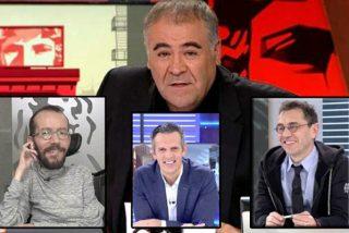 Joaquín Prat se atreve a 'pinchar la mierda de Ferreras' jaleando con Echenique y Monedero su terrible desliz