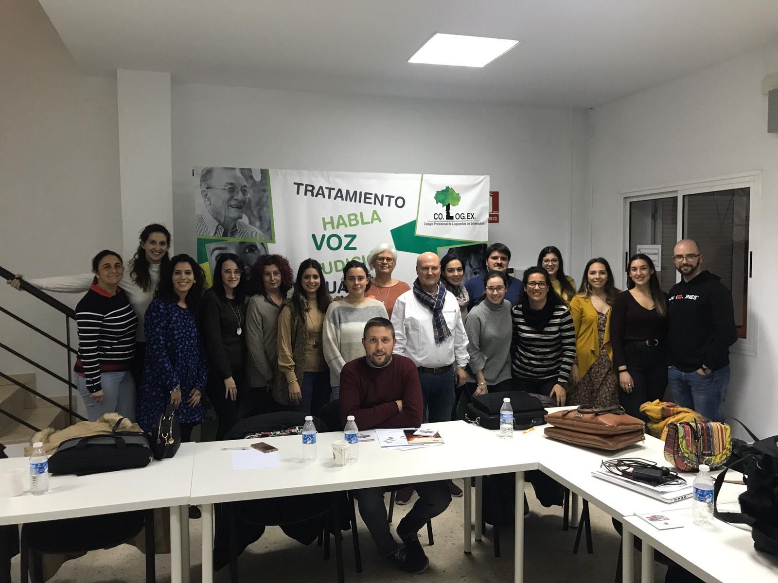 El colegio de Logopedas de Extremadura clausura la formación legal y forense para logopedas Peritos