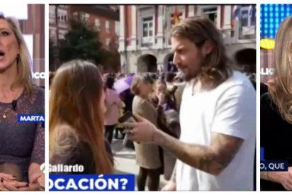Dos feministas de salón se lanzan como hienas contra el 'youtuber' Roma Gallardo tras ser agredido por una turba feminazi