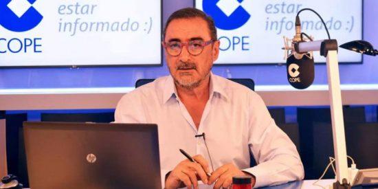 El misterioso exministro socialista la lía con un mensaje a Carlos Herrera sobre la reunión Sánchez-Torra