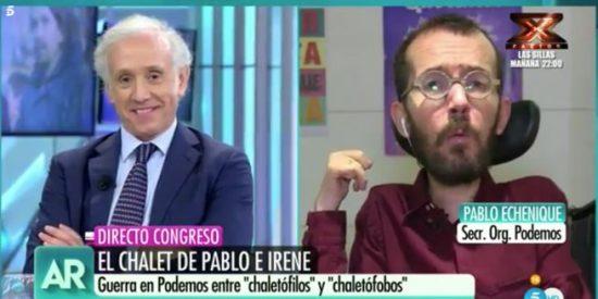 Pablo Echenique desbarra con insultos a Eduardo Inda y los votantes de VOX