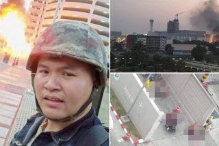 Este soldado tailandés enloquece, mata a 12 y se da a la fuga