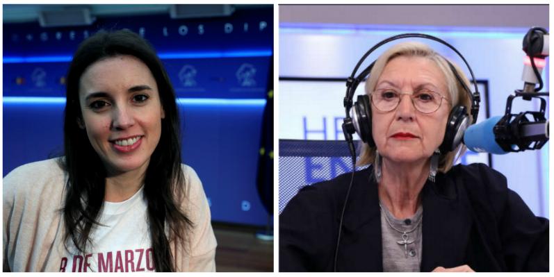 Rosa Díez lanza un ultimátum a Irene Montero por poner en la diana a la Policía
