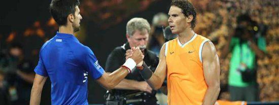 El COVID-19 reaviva la rivalidad entre Rafa Nadal y Novak Djokovic: