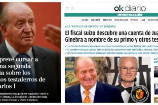 El Mundo firma como propias exclusivas de OKDiario sobre los 'papeles secretos de Ginebra' que acorralan al rey Juan Carlos