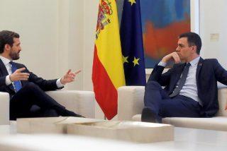 Casado exige a Sánchez que cumpla la ley, inhabilite a Torra y cancele la mesa de diálogo con los separatistas catalanes
