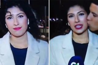Le cascan 2.400 euros al tipejo que besó y después tiró al suelo a una periodista de la TV Canaria