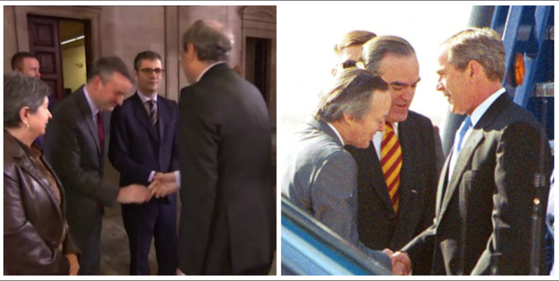 """Iván Redondo desata el cachondeo en redes con sus reverencias a Torra: """"Lo saludó como Piqué a Bush y con el riesgo de perder el peluquín"""""""