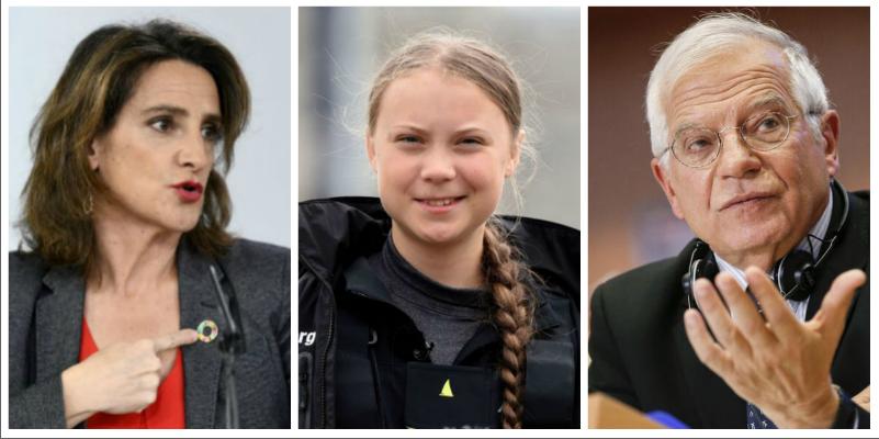 Teresa Ribera, a dos telediarios de 'fichar' a Greta Thunberg: la ministra carga contra Borrell por cuestionar a la joven