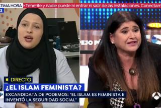 El Quilombo / Lucía Etxebarria le recita el Corán a latigazos a la podemita islamista: