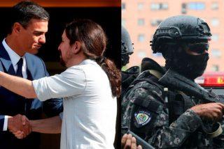 """Pedro Sánchez y Pablo Iglesias comienzan a transformar la Policía Nacional en su """"escolta política"""""""