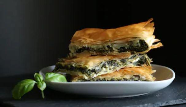 Spanakopita, pastel griego de espinacas