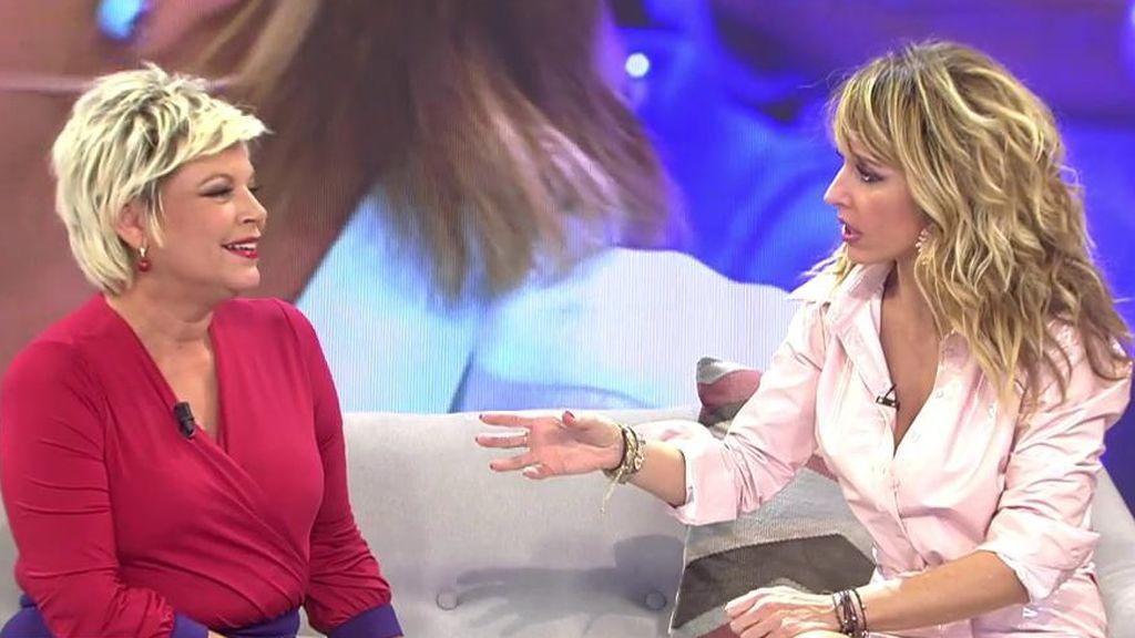 Emma García se pone cachonda y confiesa a Terelu lo que le desea respecto al sexo