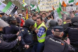 Lógica socialista: de las loas de Garzón a los olivareros a la represión e insultos a los agricultores