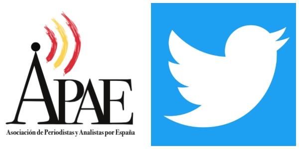 """La Asociación de Periodistas y Analistas por España (APAE) denuncia el """"trato discriminatorio"""" de Twitter España"""