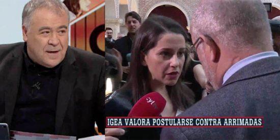 Ferreras, exultante con el encontronazo ante las cámaras de Arrimadas e Igea: