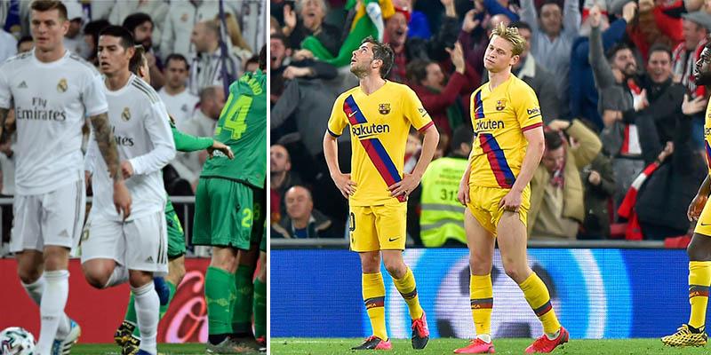 Real Madrid y Barça, apeados de unas semifinales de Copa del Rey insólitas
