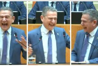 Surrealismo en el Parlamento de La Rioja: ataque de risa del consejero socialista de Hacienda ante los impagos de Pedro Sánchez