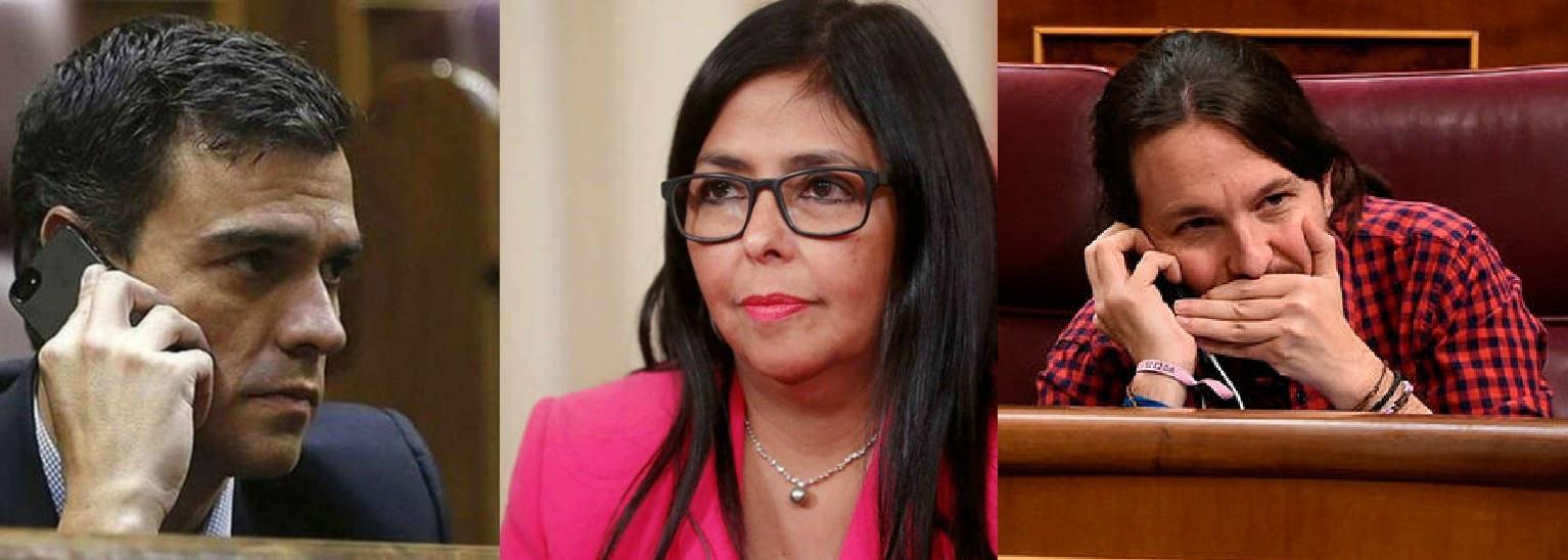 El 'caso Ábalos' se enturbia: confirman la llamada de Delcy Rodríguez a Pedro Sánchez y suman otra a Pablo Iglesias