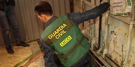 La Guardia Civil desmantela en Málaga una fábrica ilegal subterránea de tabaco y evita una catástrofe