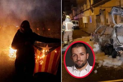 A lo kale borroka, los catabatasunos queman el coche del concejal de VOX en Salt (Gerona)