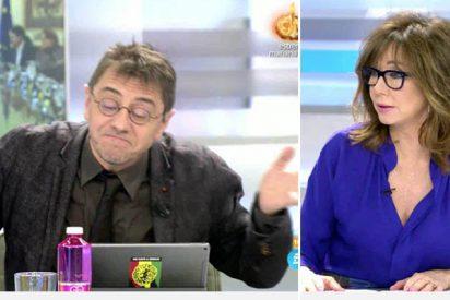 Monedero se pone histérico en TV por las maletas chavistas en Barajas y así le cruje Ana Rosa