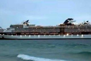El crucero MSC Meraviglia, rechazado por dos países, atraca en Cozumel