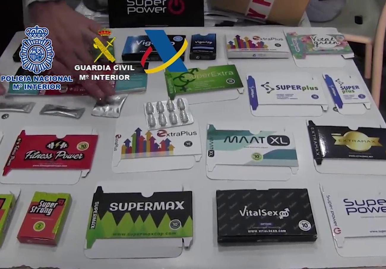 La Policía Nacional detiene a 47 personas por tráfico ilegal de fármacos de Malasia
