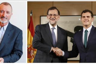 Arturo Pérez-Reverte le mete un palo de libro a Albert Rivera y, de propina, a Mariano Rajoy