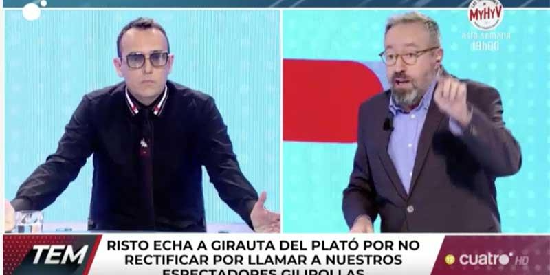 """La encerrona a Juan Carlos Girauta deja a Risto Mejide retratado y a Cuatro muy tocado: """"Vuestros espectadores son gilipollas, igual que el programa"""""""
