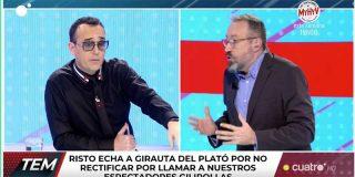 Vergüenza en Mediaset: Risto Mejide expulsa a Juan Carlos Girauta por no arrepentirse de llamar