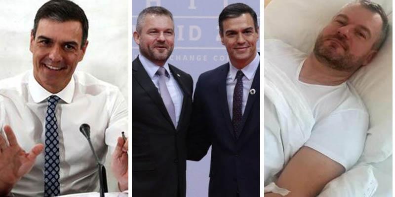 Pedro Sánchez se libra del coronavirus; el primer ministro eslovaco, ingresado, da negativo en las pruebas