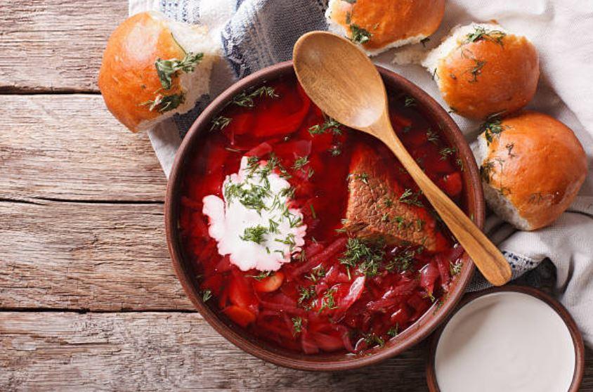 sopa borsch de Ucrania