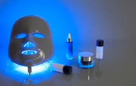 terapia de luz azul para el acné