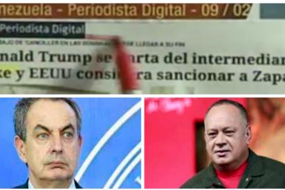 Diosdado Cabello pone firme a Zapatero para que defienda al régimen criminal y se hace la víctima citando a Periodista Digital